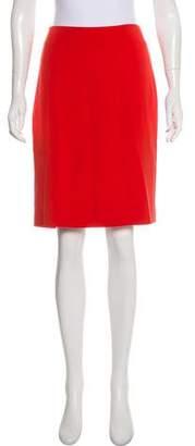 Akris Silk Knee-Length Skirt