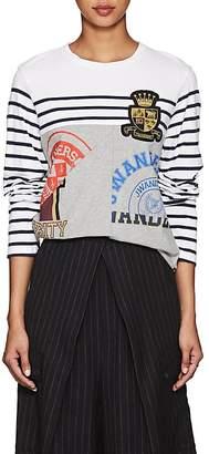J.W.Anderson Women's Appliquéd Striped Cotton T-Shirt