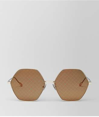 Bottega Veneta Gold Metal Sunglasses