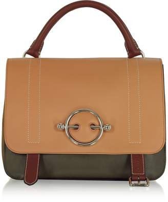 J.W.Anderson Chestnut Leather Disc Satchel Bag
