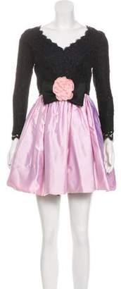 Jenny Packham Lace & Satin Mini Dress