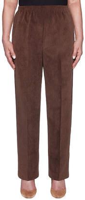 Alfred Dunner Classic Fit Corduroy Pull-On Pants-Misses Short