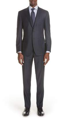 Canali Milano Classic Fit Plaid Wool Suit