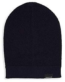 Canada Goose Men's Waffle Slouchy Wool Beanie