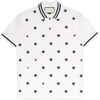 Gucci Cotton polo with bees and stars