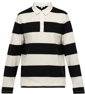 Frame Striped Cotton Rugby Shirt - Mens - Black Multi