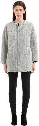 Es'givien Bonded Wool Bouclé Coat