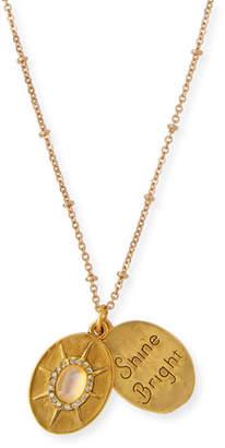 Sequin Full Moon Talisman Necklace