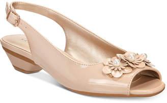 Karen Scott Irmaa Slingback Peep-Toe Pumps, Created by Macy's Women's Shoes