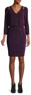 Calvin Klein Cutout Popover Three-Quarter Sleeve Dress
