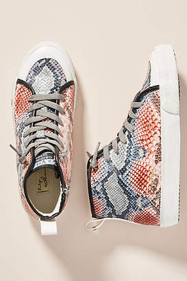 Vintage Havana Snake High-Top Sneakers