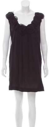 Lela Rose Rosette Silk Dress
