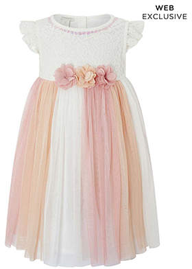 Monsoon Baby Peony Lace Dress