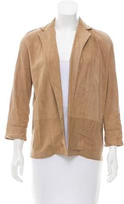 Celine Open Front Suede Jacket
