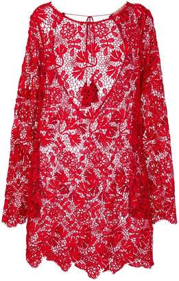 Ermanno Scervino floral lace long blouse