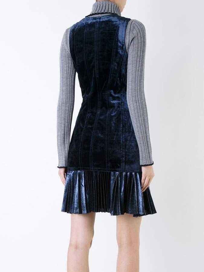 3.1 Phillip Lim bonded velvet dress
