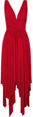 Norma Kamali Goddess Ruched Stretch-jersey Maxi Dress - Red