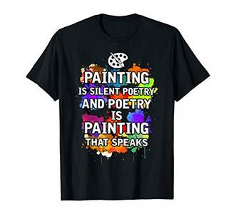Painting Is Silent Poetry And Poetry Is Painting Shirt