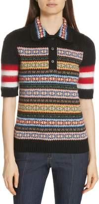 N°21 N21 N?21 Fair Isle Stripe Wool Blend Sweater