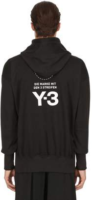 Y-3 Stacked Logo Cotton Sweatshirt Hoodie