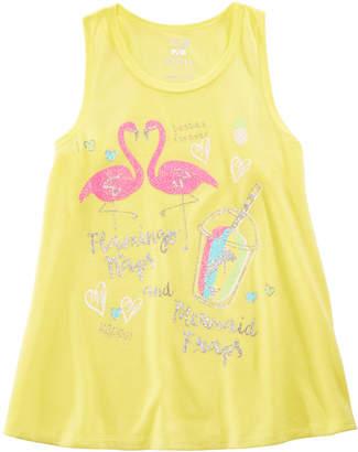 LTB Max & Olivia Little & Big Girls Flamingo-Print Pajama Tank Top