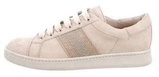 Brunello Cucinelli Round-Toe Low-Top Sneakers