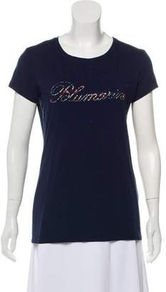 Blumarine Embellished Logo Top