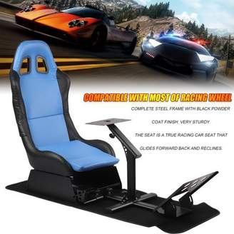BlingBling Comfortable Racing Simulator Seat With Steering Wheel Support Durable Driving Seat Compact Video Game Accessories