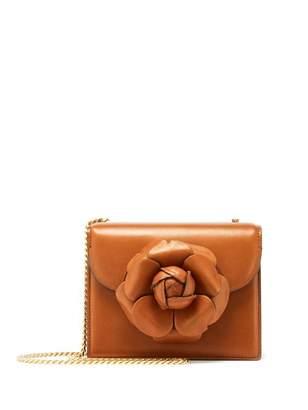 Oscar de la Renta Cognac Leather Mini TRO Bag