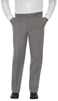 George Men's Microfiber Flat Front Dress Pants