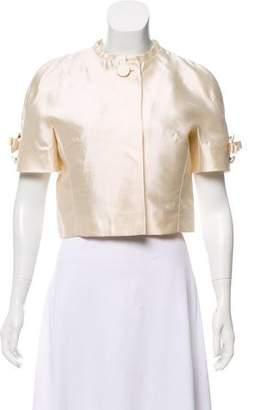 Dolce & Gabbana Silk Cropped Jacket