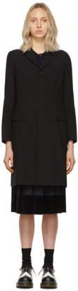 Comme des Garcons Black Tropical Wool Coat