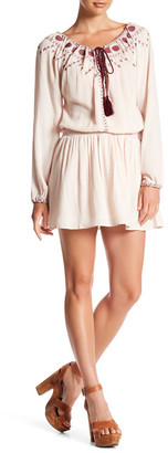 En Creme Raglan Long Sleeve Embroidered Dress $68 thestylecure.com