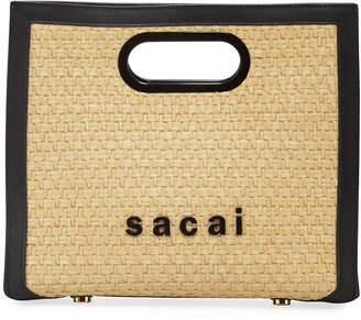 Sacai Shopper Raffia Clutch Bag