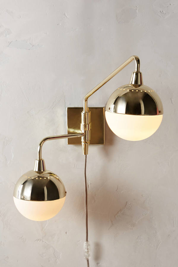 AnthropologieAnthropologie Anchored Orb Two-Arm Sconce