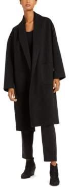 Eileen Fisher Shawl-Collar Open-Front Coat