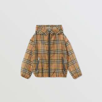 Burberry Childrens Lightweight Vintage Check Hooded Jacket