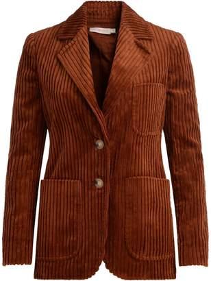 Tory Burch Polly Brown Corduroy Velvet Blazer