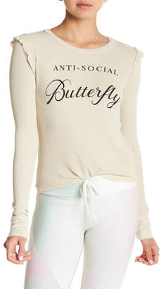 Wildfox Couture Anti Social Long Sleeve Tee