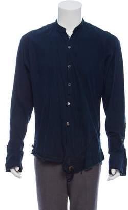 Greg Lauren Distressed Collarless Jacket