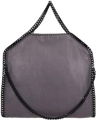 Stella McCartney Falabella Fold Over Tote Grey Faux Leather Bag