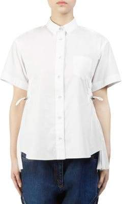Sacai Cotton Poplin Button-Down Shirt