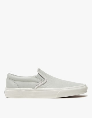 Classic Slip-On in Embossed Glacier Grey $60 thestylecure.com
