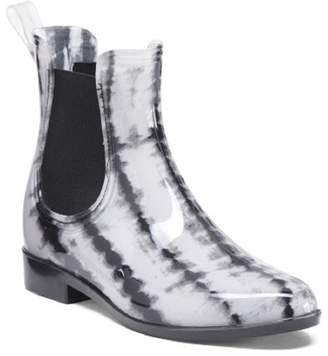Nicole Miller Pull On Chelsea Rain Boots with Goring Side Panels