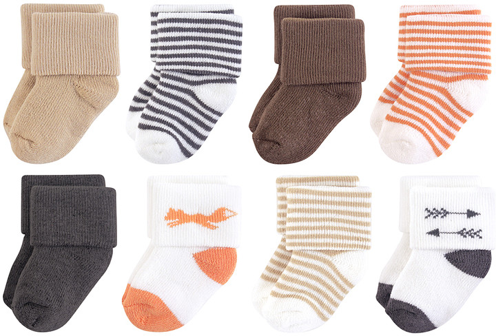 Coral & Blue Socks - Set of Eight