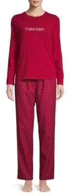 Calvin Klein Two-Piece Classic Cotton Pajama Set
