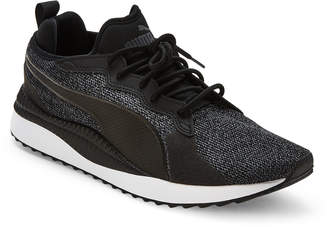 Puma Black & Grey Pacer Next TW Knit Sneakers