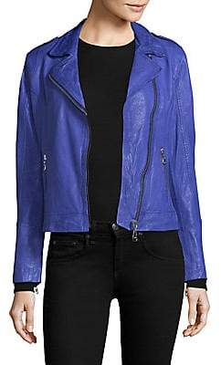 Doma Women's Classic Leather Moto Jacket