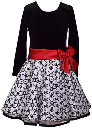 Bonnie Jean Long Sleeve Party Dress Girls