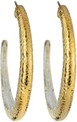 Gurhan Hoopla Large Tapered Hoop Earrings, Gold